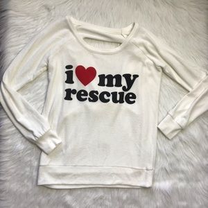 Chaser love my rescue dog mom sweatshirt small